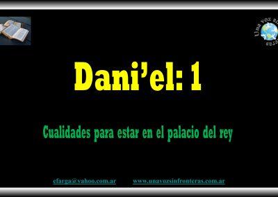 012.-Dani' el:1 Cualidades para estar en el palacio del Rey