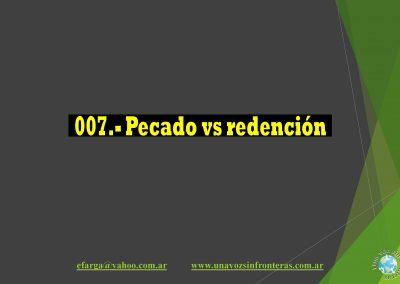 007.-Pecado vs Redención